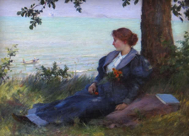 famous painting An afternoon respite of Charles Courtney Curran