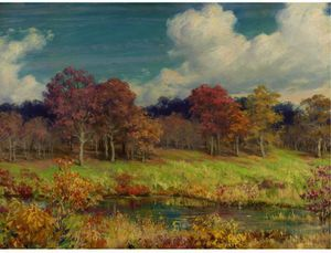 Charles Courtney Curran - Autumn Landscape