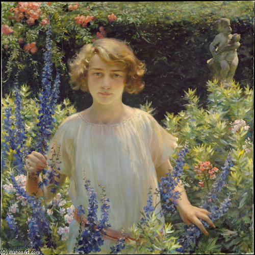 famous painting Betty Newell of Charles Courtney Curran