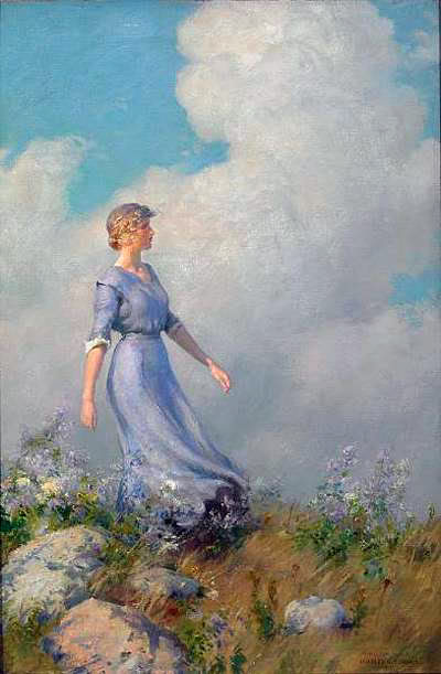 famous painting Billows of Charles Courtney Curran