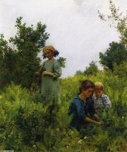 Charles Courtney Curran - Blueberries And Ferns