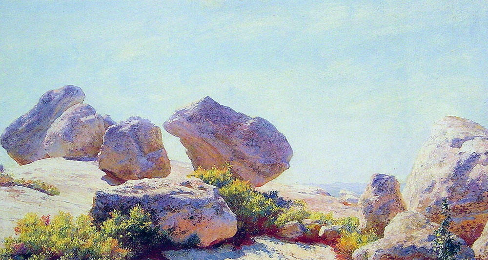 famous painting Boulders on Bear Cliff of Charles Courtney Curran