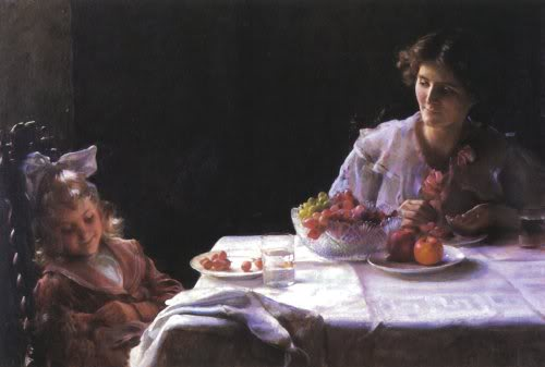 famous painting Breakfast For Three of Charles Courtney Curran
