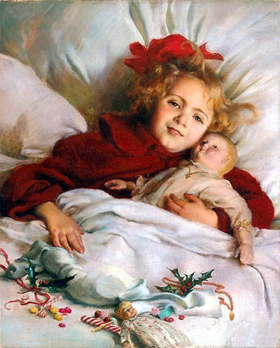 famous painting Christmas Morning of Charles Courtney Curran