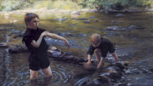 famous painting Cooling Off of Charles Courtney Curran