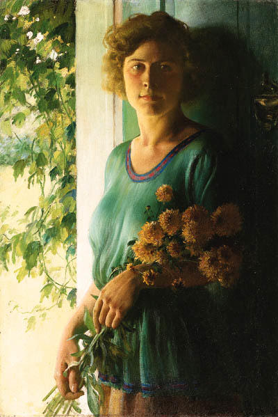 famous painting Golden Glow of Charles Courtney Curran