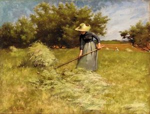 Charles Courtney Curran - Haytime