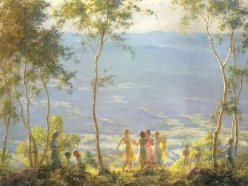famous painting June of Charles Courtney Curran