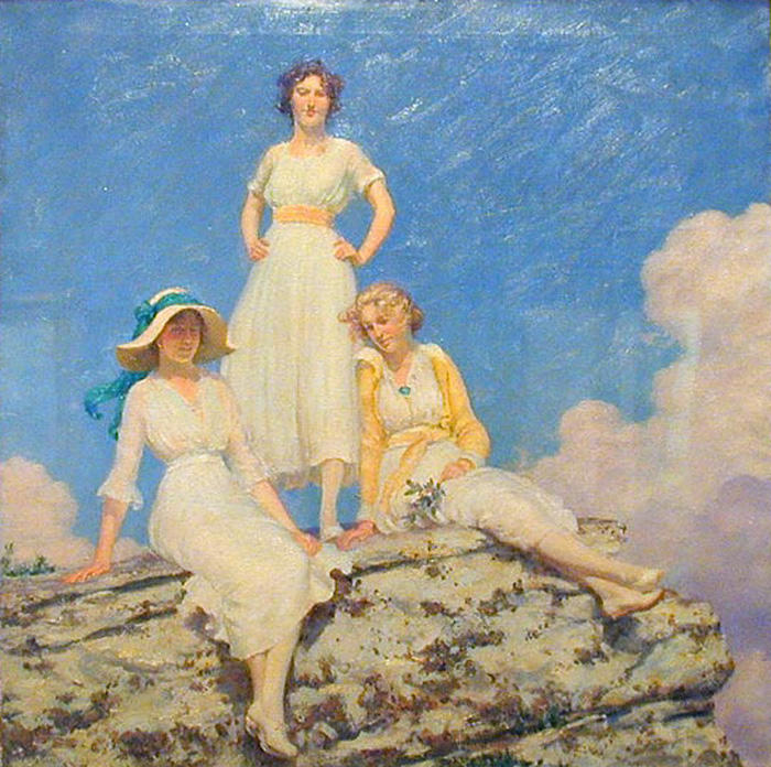 famous painting Noonday Sunlight of Charles Courtney Curran