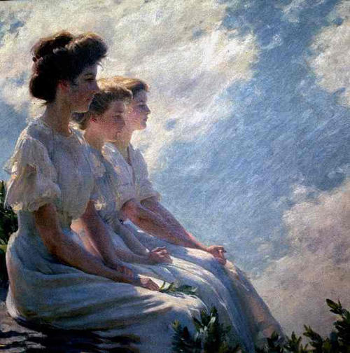 famous painting On the Heights of Charles Courtney Curran