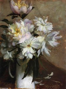 Charles Courtney Curran - Peonies 1