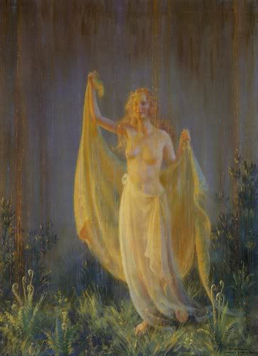 famous painting Sunshine And Rain of Charles Courtney Curran