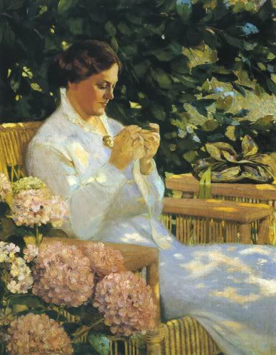 famous painting Tatting Lace of Charles Courtney Curran
