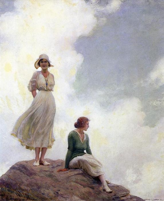 famous painting The Boulder of Charles Courtney Curran
