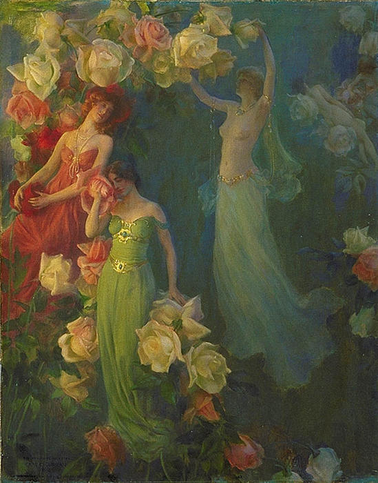 famous painting The Perfume of Roses of Charles Courtney Curran