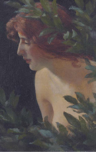 famous painting Wood nymph study of Charles Courtney Curran
