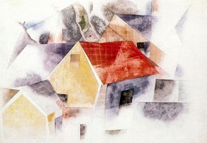 Charles Demuth - Red-roofed houses