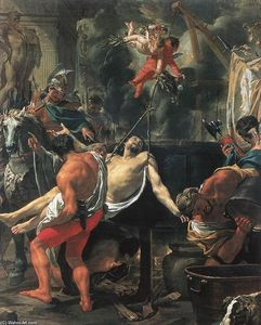 Charles Le Brun - Martyrdom of St John the Evangelist at Porta Latina