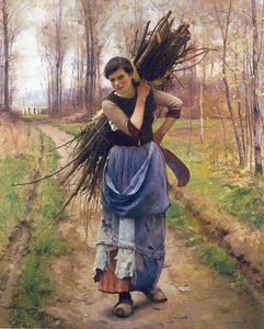 Charles Sprague Pearce - The Woodcutter's Daughter