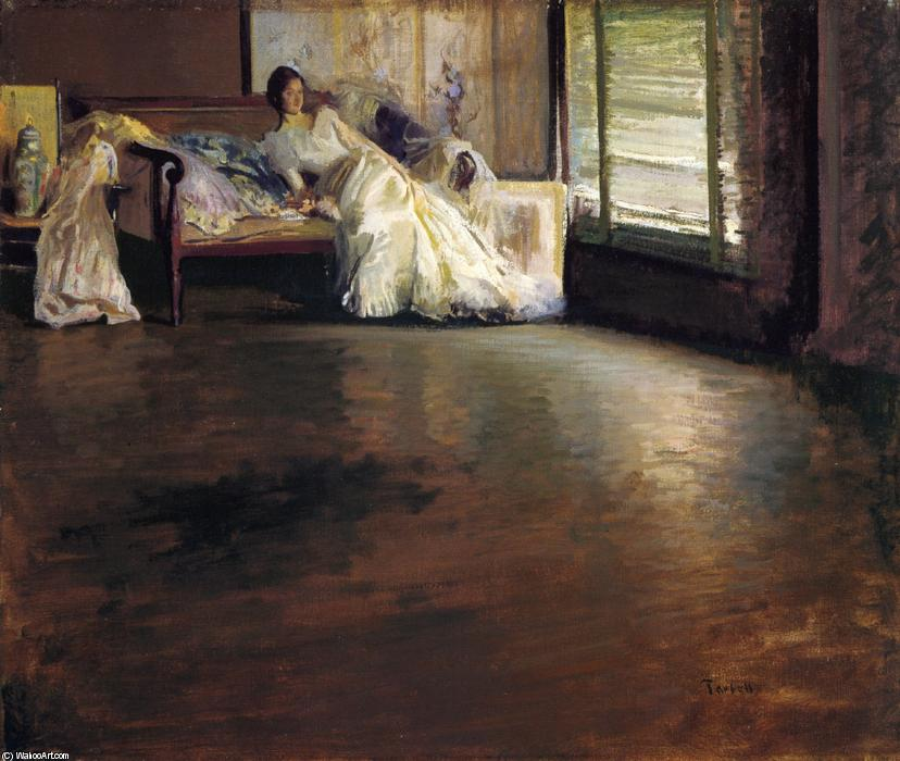 famous painting Across the Room (aka By the Window or Leisure Hour) of Edmund Charles Tarbell