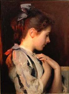 famous painting Amethyst of Edmund Charles Tarbell