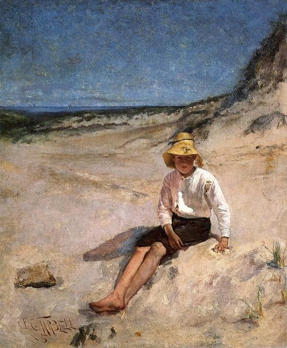 famous painting Boy on the Beach of Edmund Charles Tarbell