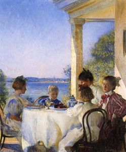 Edmund Charles Tarbell - Breakfast on the Piazza