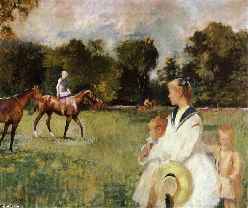 famous painting Schooling the Horses of Edmund Charles Tarbell
