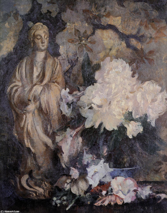 famous painting Still Life with Oriental Statue of Edmund Charles Tarbell