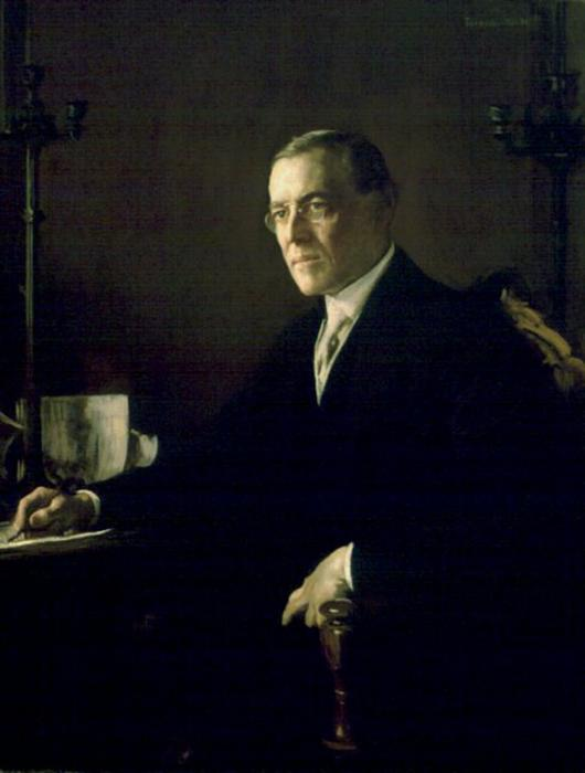 famous painting Woodrow Wilson of Edmund Charles Tarbell