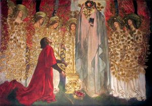 Edwin Austin Abbey - Panel XV The Golden Tree and the Achievement of the Grail