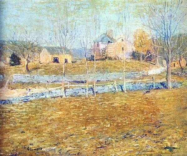 famous painting Abandoned Farm of Ernest Lawson