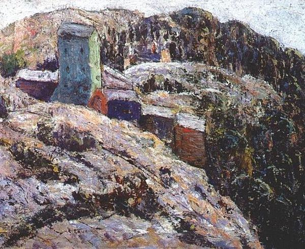 famous painting Abandoned Mine, Cripple Creek of Ernest Lawson
