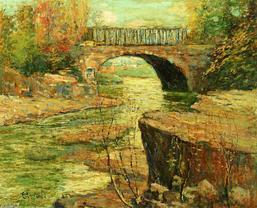 famous painting Aqueduct at Little Falls, New Jersey of Ernest Lawson