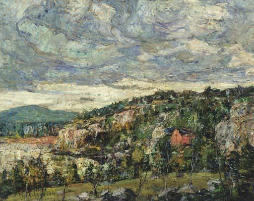 famous painting Blue Hill, Maine of Ernest Lawson