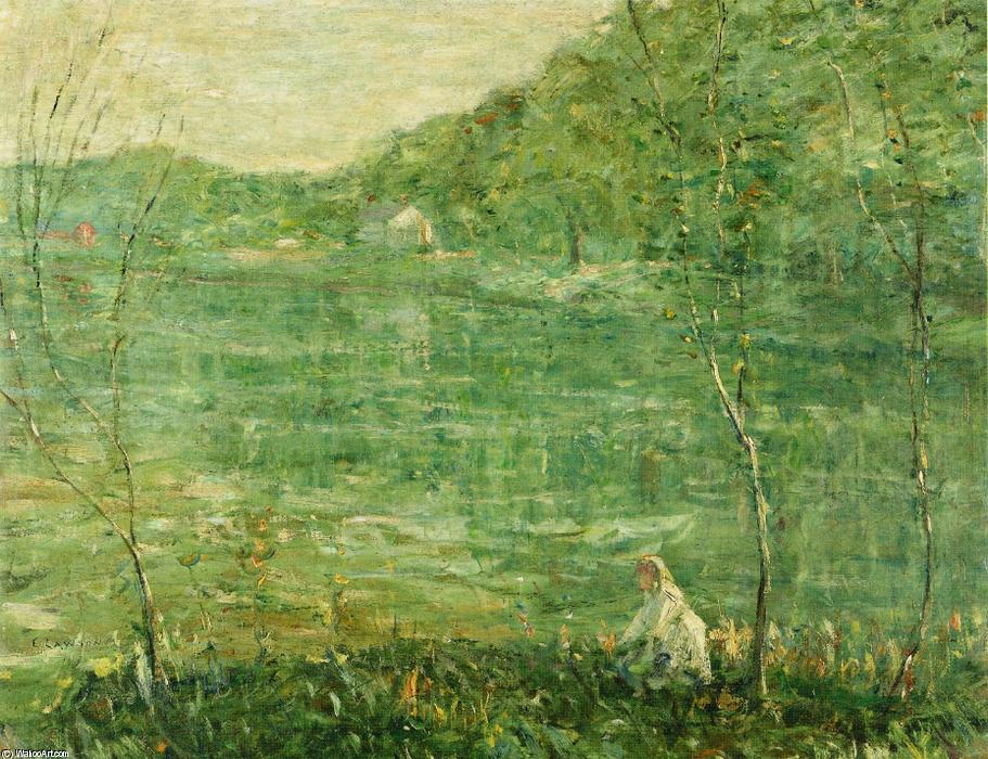 famous painting By the River of Ernest Lawson