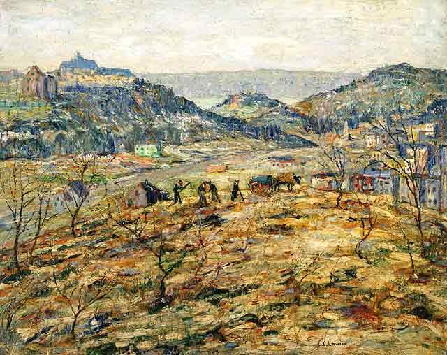 famous painting City Suburbs of Ernest Lawson