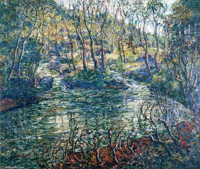 famous painting Connecticut Trout Stream of Ernest Lawson