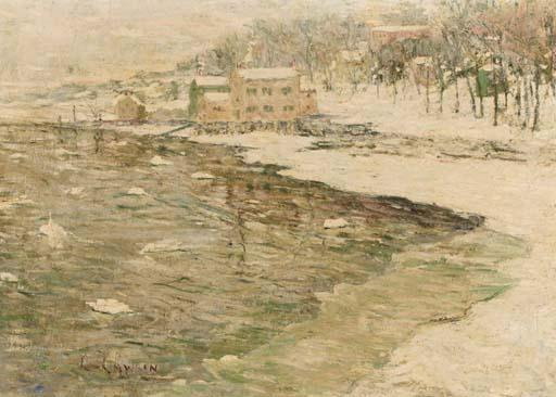 famous painting Cos Cob in Winter of Ernest Lawson