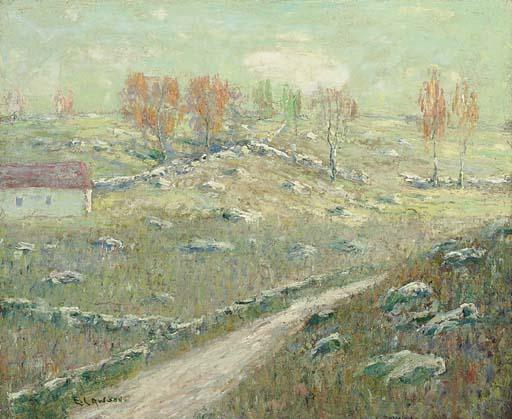 famous painting Early Autumn of Ernest Lawson