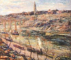 Ernest Lawson - Harlem River at High Bridge