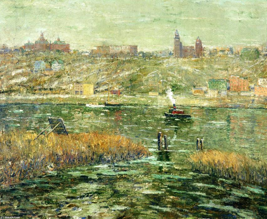 famous painting Harlem River of Ernest Lawson