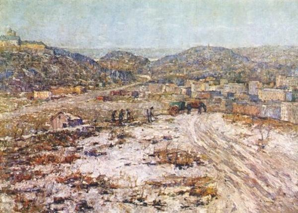 famous painting Hills at Inwood of Ernest Lawson