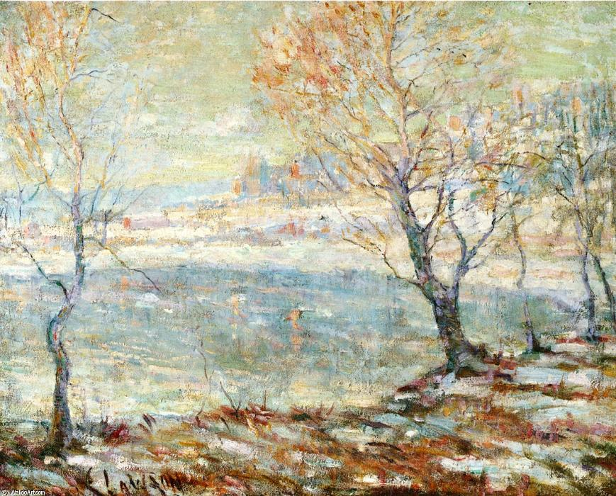 famous painting Inwood on Hudson, In the Snow of Ernest Lawson