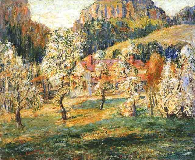 famous painting May in the Mountains 1 of Ernest Lawson