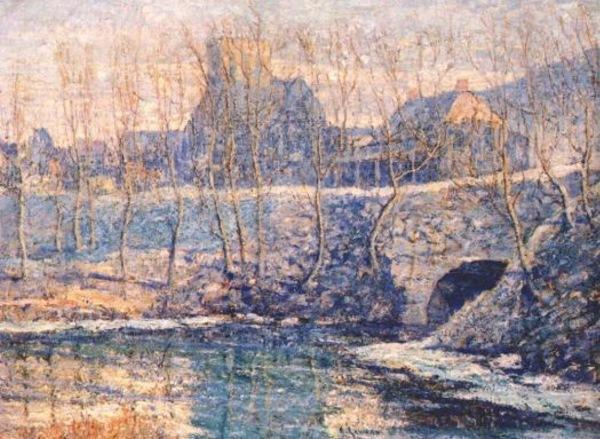 famous painting Misty Day in March of Ernest Lawson