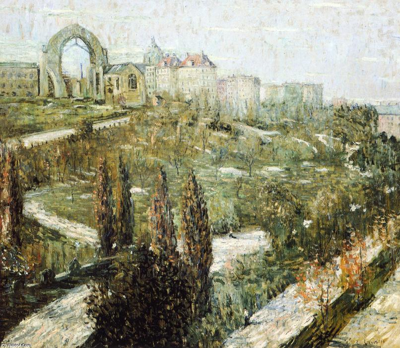 famous painting Morningside Heights of Ernest Lawson