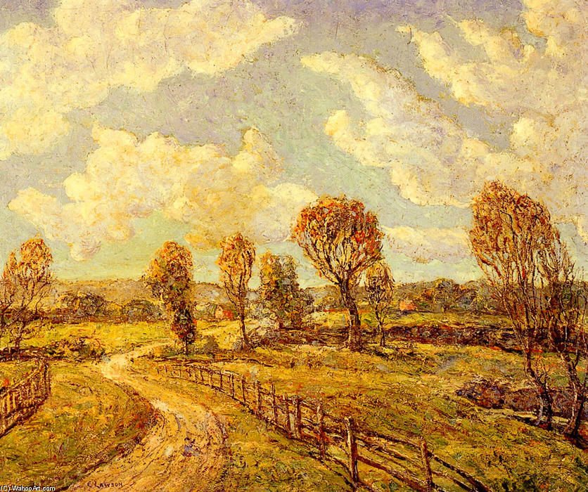 famous painting New England Lanscape of Ernest Lawson