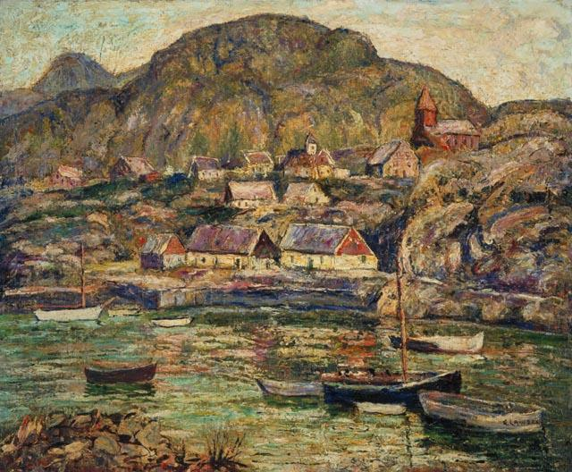 famous painting Newfoundland Coast of Ernest Lawson