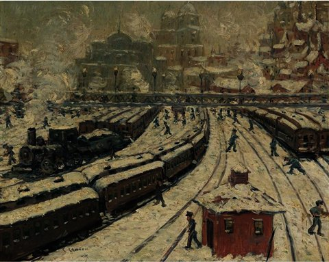 famous painting Old Grand Central of Ernest Lawson